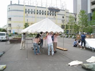 こすぎ夏フェスタ'08 準備風景