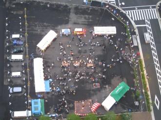 2008年に開催された「こすぎ夏フェスタ」上空から