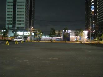 こすぎ夏フェスタ'08開催前夜の横須賀線武蔵小杉新駅前広場