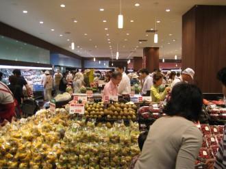 フーディアム武蔵小杉店内(果物売り場)