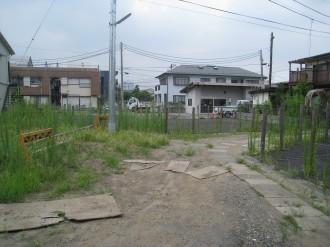 中原街道改良工事 取得済み用地(住宅地内)