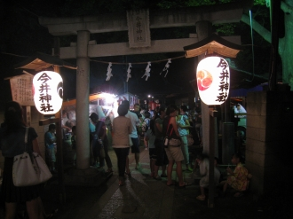 夜の今井神社祭礼