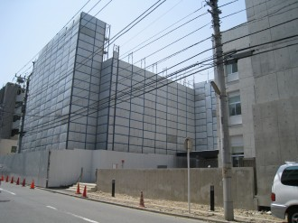 中原警察署旧庁舎取り壊し工事(新庁舎側より)