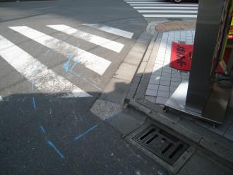 府中街道との交差点(拡大)