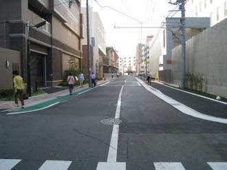 中原警察署前の道路