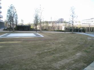 公開空地の円形広場