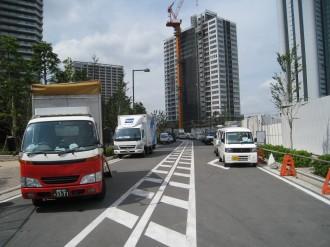 都市計画道路 武蔵小杉駅南口線(北方面)