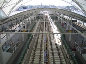 元住吉駅の目黒線ホーム