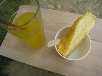 オレンジジュースとミルフィーユ