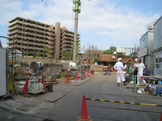 プラウド武蔵小杉グリーンフロントの工事現場
