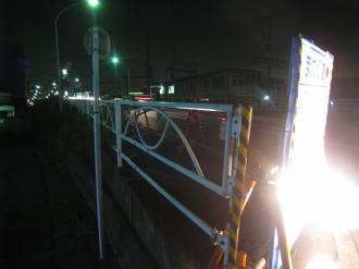 綱島街道陸橋の歩道入口