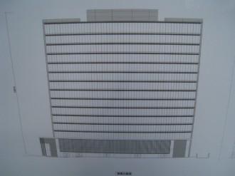 (仮称)武蔵小杉新駅前ビル(北) 西側立体図