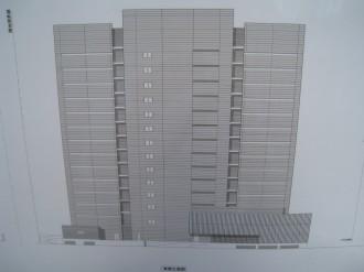 (仮称)武蔵小杉新駅前ビル(北) 東側立体図