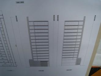 (仮称)武蔵小杉新駅前ビル(北) 南北立体図