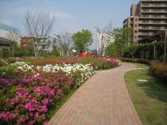ガーデンティアラ武蔵小杉の公開空地(北側)