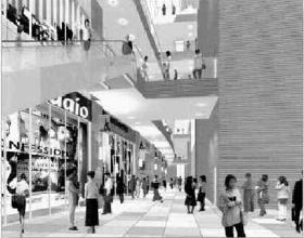 小杉駅南部地区の完成イメージ