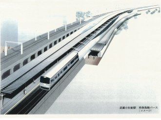 横須賀線武蔵小杉駅イメージパース