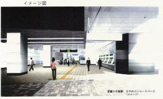 横須賀線武蔵小杉駅イメージパース(改札口)