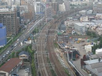 横須賀線武蔵小杉新駅予定地・北部