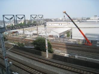 横須賀線下り線の橋脚