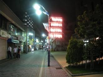夜みこし&ストリートライブ前日の提灯